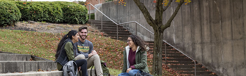photo of students sitting in the ampitheater