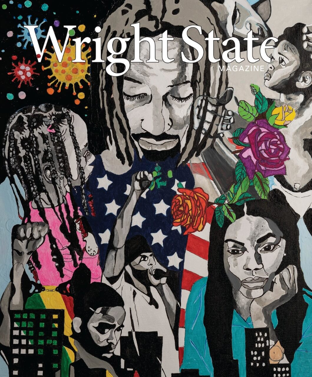 Cover of spring 2021 wright state magazine